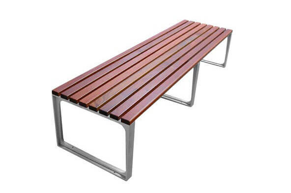 leman timber park benches - backless