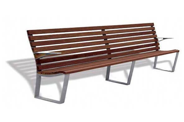 leman timber park benches - with armrest