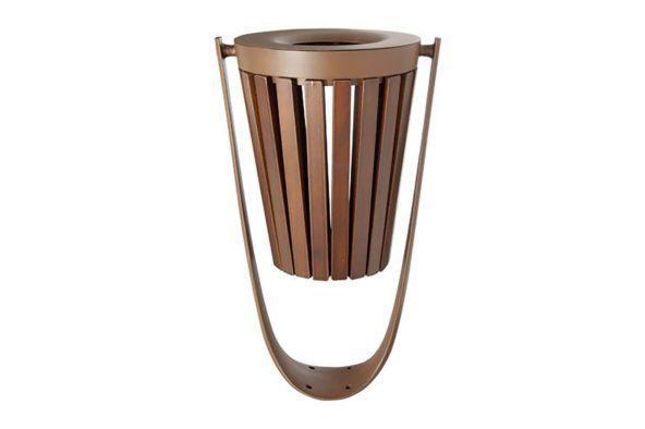 citizen timber rubbish bin