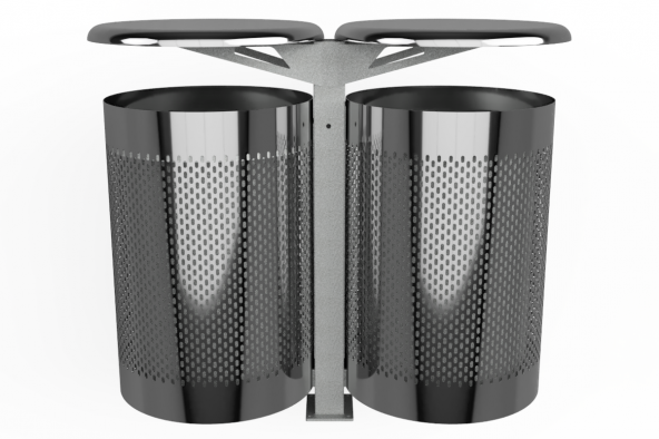 Modo100 Stainless Steel Double Surface Mounted 1