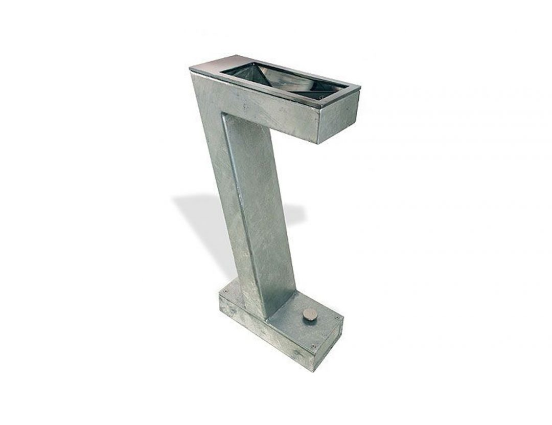 set galvanized drinking fountain