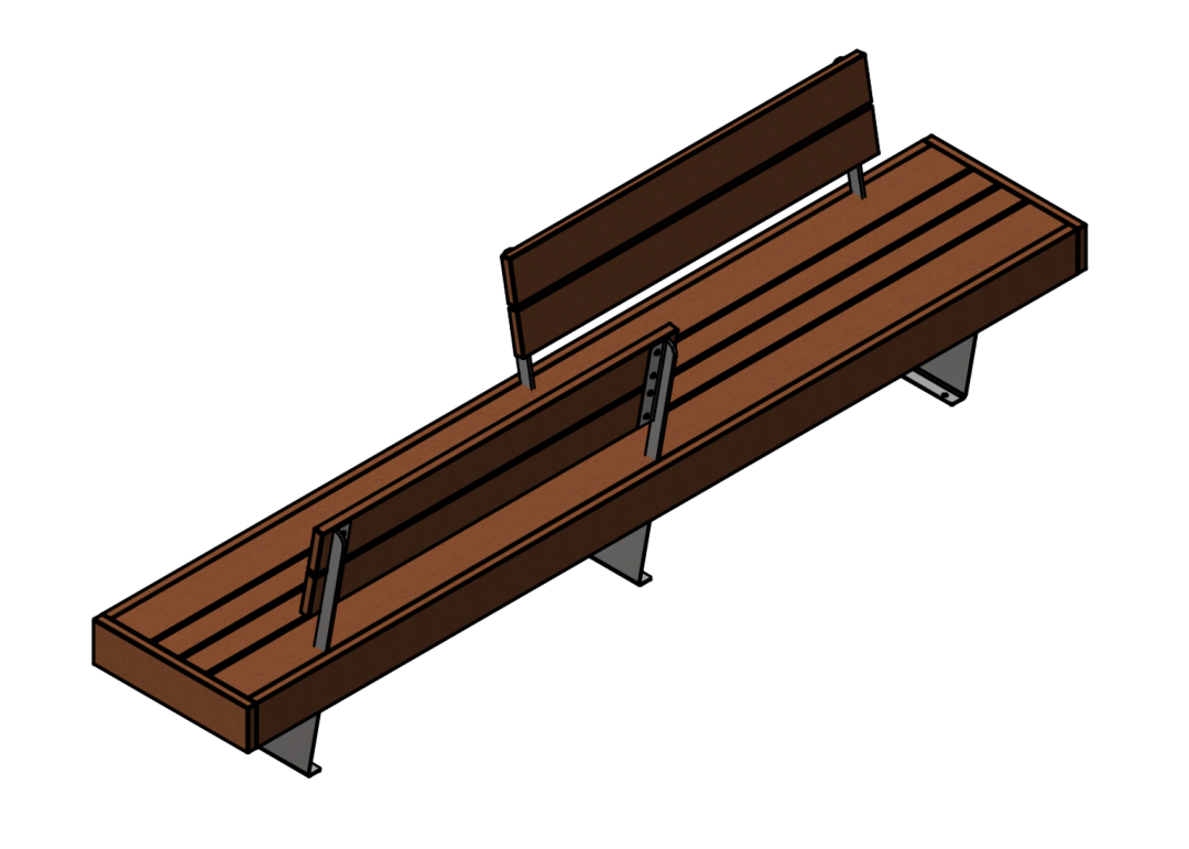 Liffiton Split Backrest Bench