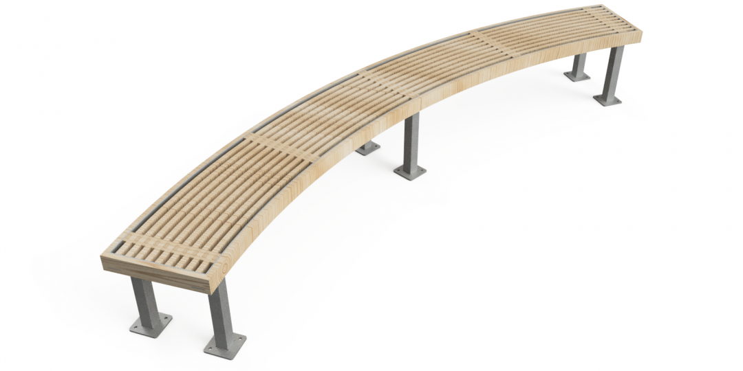 Rochfort Curved Timber Bench 1