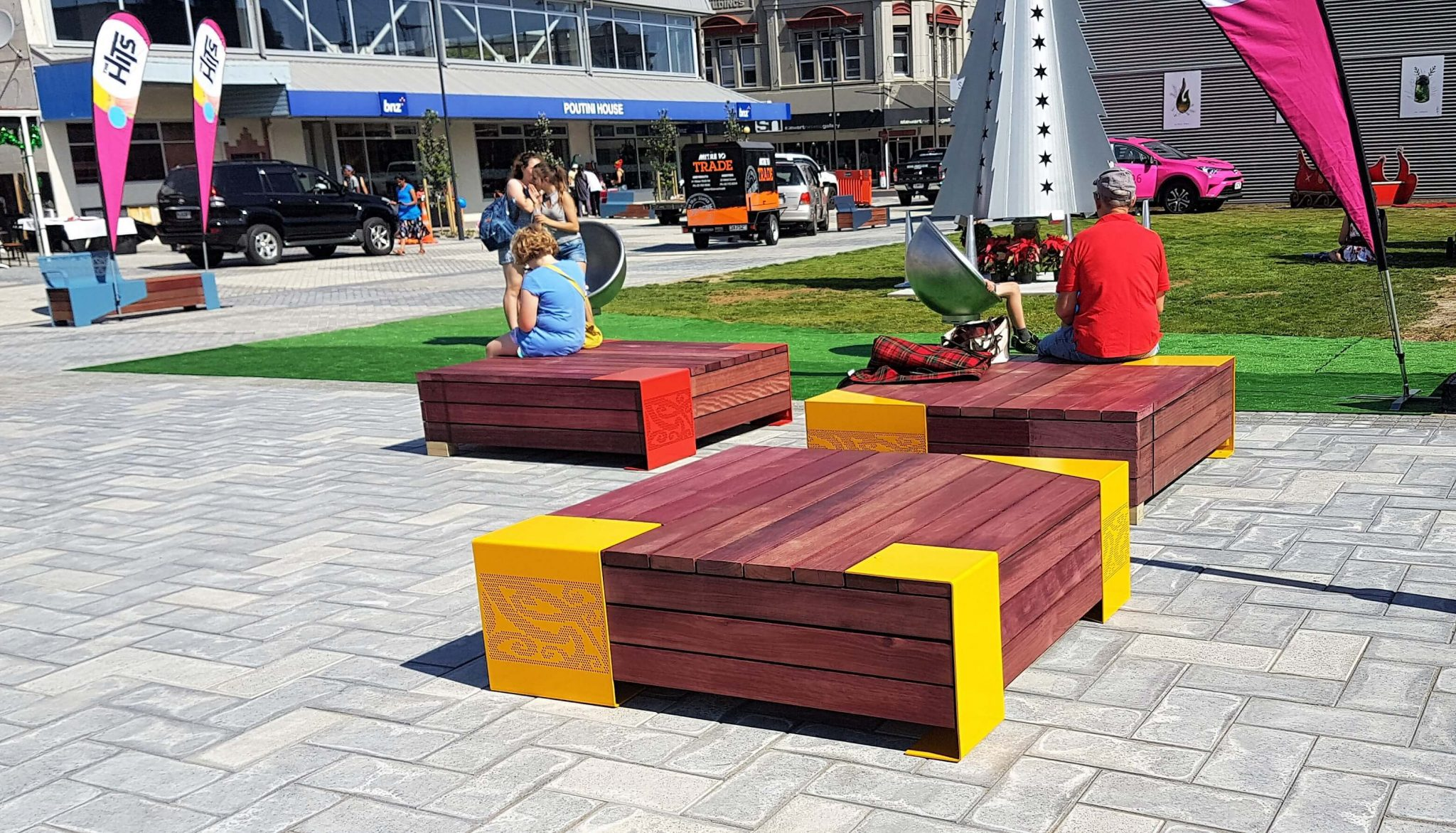 Logic were privileged to work with the grey district council to develop a range of bespoke street furniture for the towns brand new square in the cbd
