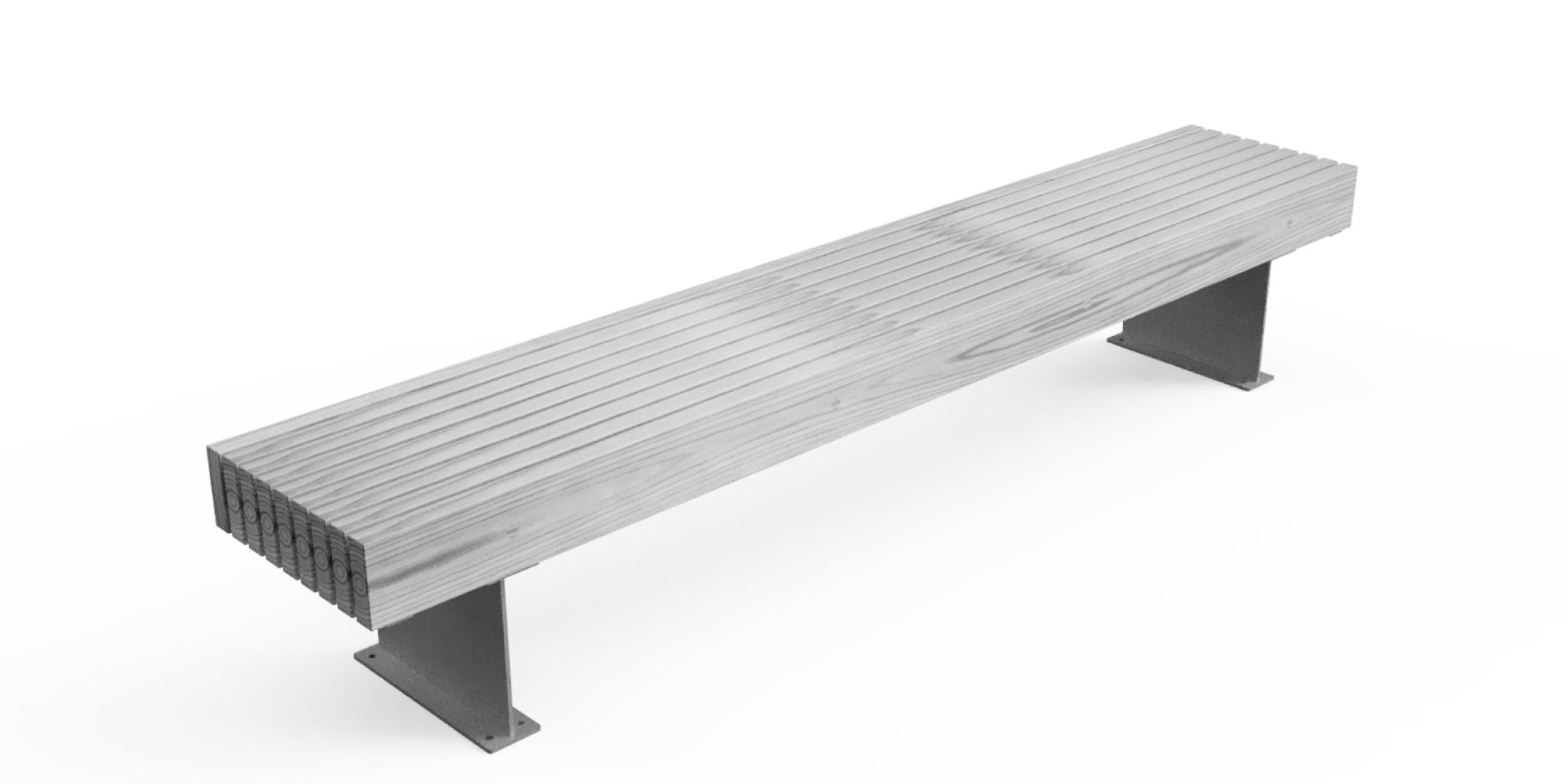 Stafford Timber Bench | Logic Street Scene